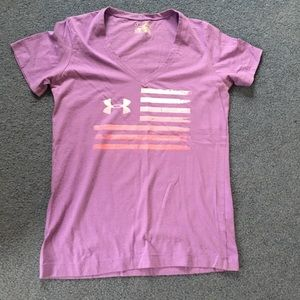 Lot of FOUR medium UA work out casual lounge tops